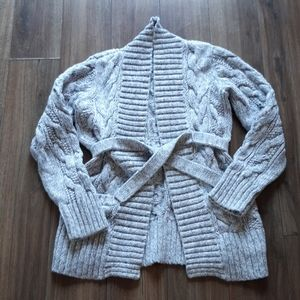 Girls Gap Kids belted sweater